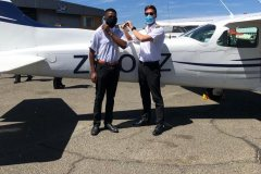 Clive Kenneth Kapesi - First Solo Flight