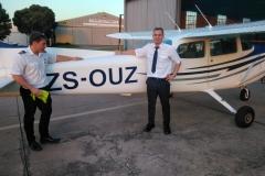 Etienne van den Berg - First Solo Flight