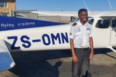 Kelvin Ngalawesa - First Solo Flight