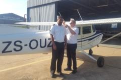 Ronald Van Wyk - First Solo Flight